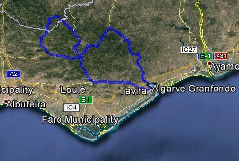 Route Granfondo Algarve