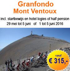 Granfondo Mont Ventoux arrangement